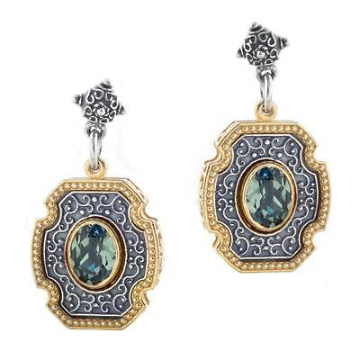 S228 ~ Sterling Silver & Swarovski Medieval Drop Earrings
