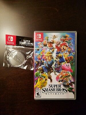 Super Smash Bros Ultimate Nintendo Switch 2018 Brand New With Collectible Coin