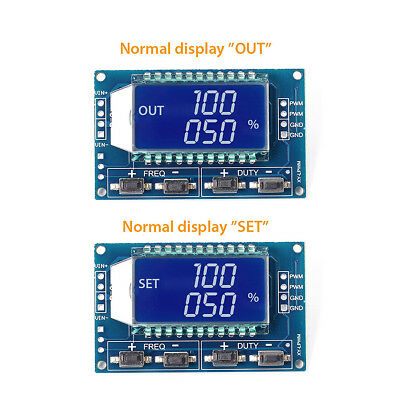 PWM Pulse Frequency Duty Cycle Adjustable Module Square Wave Signal Generator UK