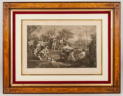"LARGE Antique Engraving - Raphaello Morghen ""Diana and Her Nymphs"" - Beautiful!"
