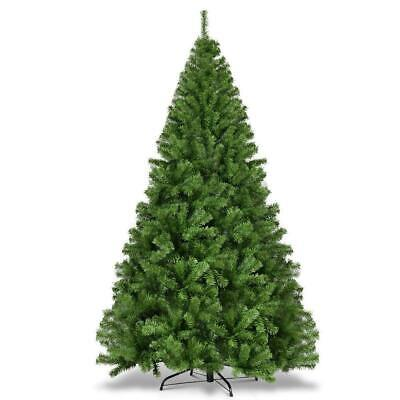 7.5FT Christmas Tree Artificial Premium Hinged Spruce Full Tree with Solid Metal