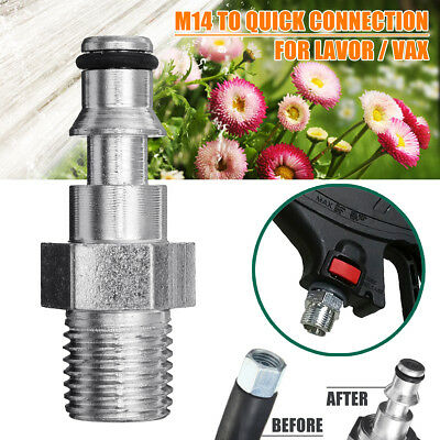 Quick Release Pressure Washer Gun Hose Fitting M14 Flat Adapter For Lavor VAX