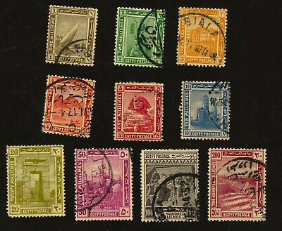 1914 Egypt Stamps Scott #50-59 All Used, H