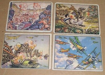 Set of 7 1938 Horrors of War Cards
