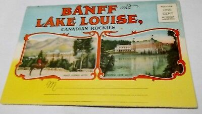 Canadian Rockie Banff & Lake Louise Canadian Rockies fold-out.  1940s