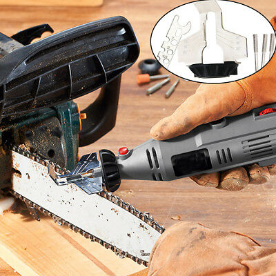 High Speed Steel Chain Saw Grinding Sharpening Attachment Sharpener Tool Kit