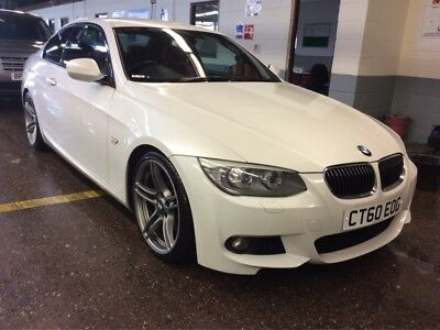 2011 Bmw 330D M-Sport Coupe *white With Red Leather* New Timing Chain Fitted Too