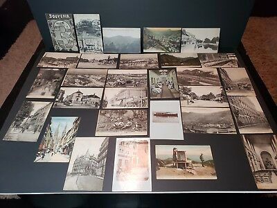 1918-19 Soldiers Mail Postcard Lot Troyes France to Bristol Pa Military Stamp