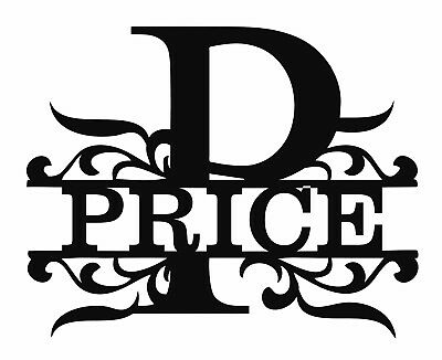 Custom Monogram Letters - DXF File Ready For Plasma or Laser Cutting