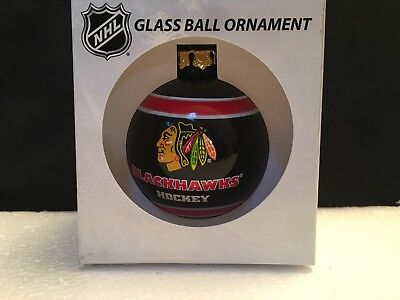 Chicago Blackhawks Forever Collectibles Glass Christmas Ornament