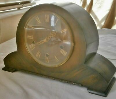 Rare Napoleon Hat  mantle clock with Westminster Chimes in art deco style by Smi