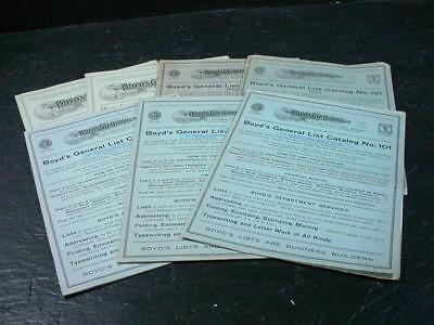 NobleSpirit NO RESERVE {3970}Collection of Boyd's City Dispatch Catalogs, 1923