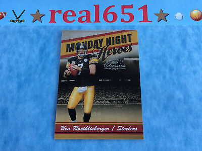 2008 Classics #MNH-18 BEN ROETHLISBERGER /1000 | Monday Night Heroes | Steelers