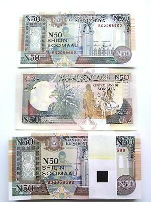 SOMALIA 50 SHILLINGS 09.1990 UNC ( X 50 PCS) from bundle bank notes