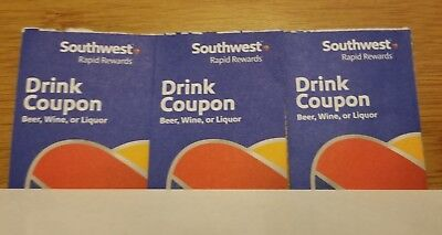 Southwest Drink Coupons (3)- Expires Jan. 2019