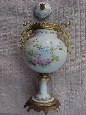"Antique Beautiful Sevres ? French Porcelain Urn Vase Hand Painted-7.5"" Tall"