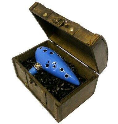 Legend Of Zelda Ocarina From John Coiner Pottery Studio Handmade W/ Songbook Wind & Woodwind
