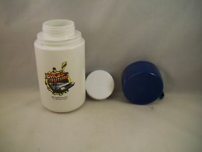 Vintage 1989 Back to the Future Thermos featuring the Delorean DMC