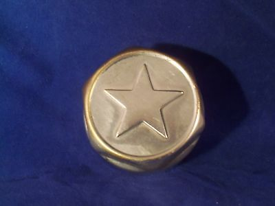 Vintage 1920s Durant Star Auto Hubcap Grease Cap Dust Cover Wheel Center