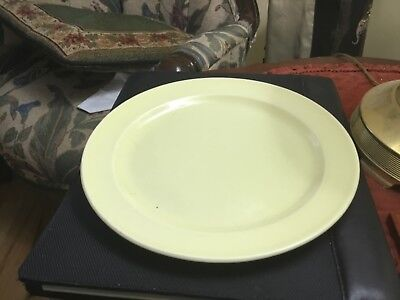 """Taylor Smith & Taylor Lu-Ray Pastels LUNCHEON PLATE  YELLOW  9 1/4"""" USA"""