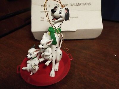 Grolier Disney Christmas Magic 101 Dalmations Collectible Ornament 26231 105