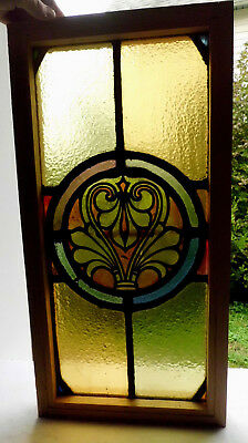 Antique Church Stained Glass Window Architectural Salvage Classical Roundel W19