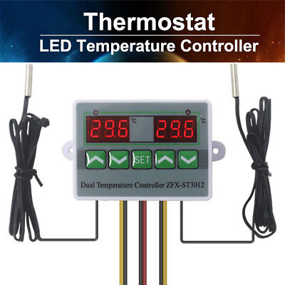 NTC 10K/B3435 Digital LED Temperature Controller Thermostat Control Switch+Probe
