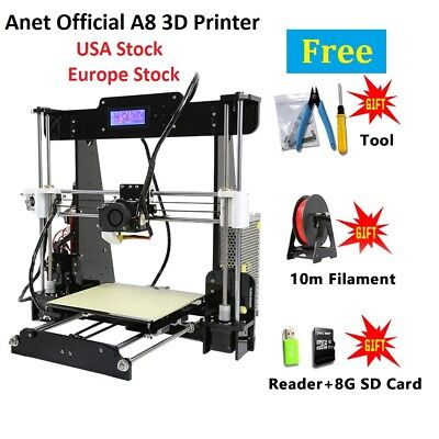 Anet A8 3D Printer Prusa i3 DIY Kit, Acrylic Frame LCD Screen Included Filament