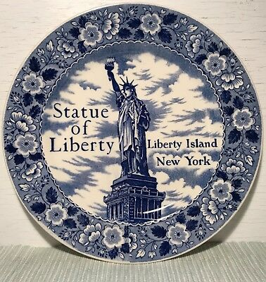 Vtg Statue of Liberty New York Souvenir Plate Staffordshire Ware Made in England