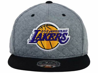 186d1c8029b Mens Mitchell   Ness Los Angeles Lakers Quilted Road 2 Tone Fitted Hat Cap  NBA