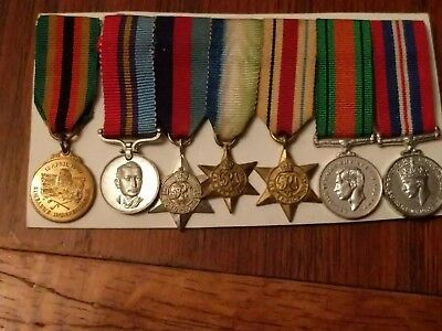 WW2 South Rhodesia Service Medals (Miniature)