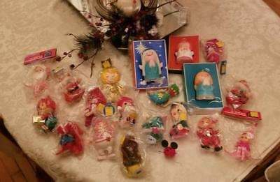 Big Lot ! Vintage * Kitschy * Christmas Ornaments + Retro Gurley Candles Angels
