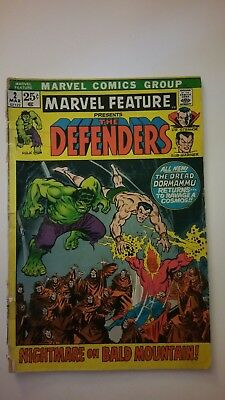 Marvel Feature #2 (Mar 1972, Marvel) The Defenders, Reader Copy