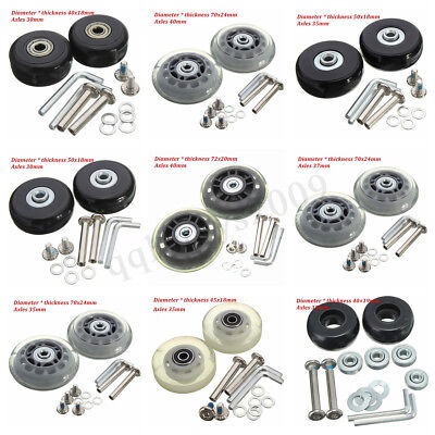 AU OD 40-72mm Deluxe Luggage Suitcase Wheels Repair Replacement Axles Wrench Kit