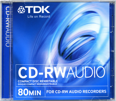 TDK CD-RW AUDIO 1 psc for stationary audio recorders  MULTIPLE RECORDING