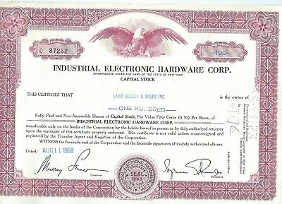 Industrial Electronic Hardware Corp., 1969