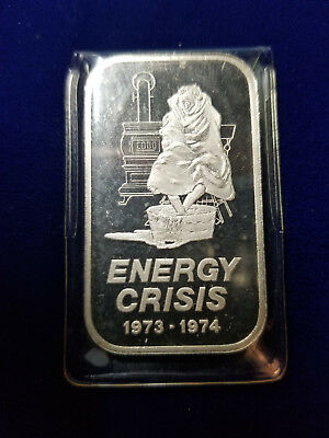 1973-1974 Garden State Mint Energy Crisis GSM-3 Silver Art Bar RARE 600 MINTED