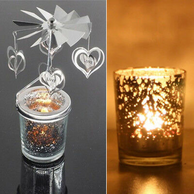 Rotary Spinning Candlestick Tealight Candle Holder Perfect Gift For Lovers