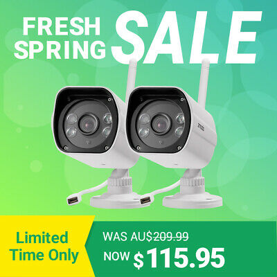 Zmodo 2Pack 1080P Outdoor Wireless Smart HD Security IP Camera Night Vision 4MP