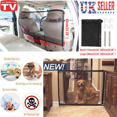 Magic Dog Gate Pet Safety Guard Portable Folding Safe Net for Dog Baby-Enclosure