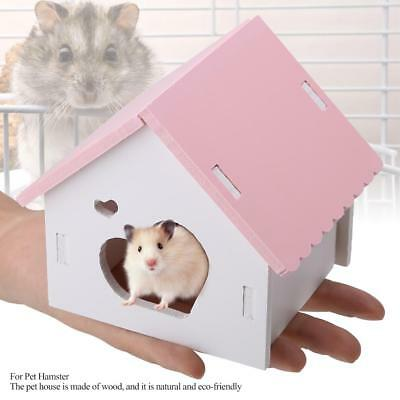Wooden Fashionable House Villa Cage Exercise Toy Hamster Hedgehog Mouse Pig Pet