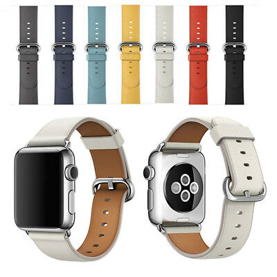 Für Apple Watch Leder Single Tour Armband iWatch Series 4 3 2 1 44/42/40/38mm DE