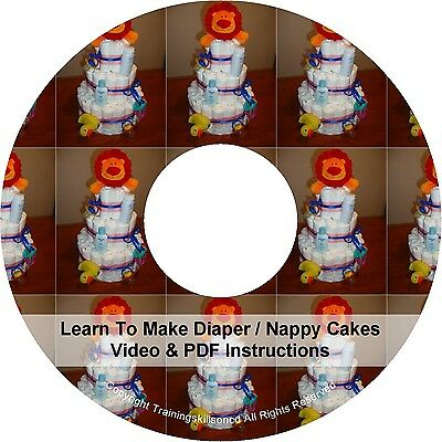 DIY Learn How To Make Nappy Diaper Cakes Step By Step Videos Manual Instructions