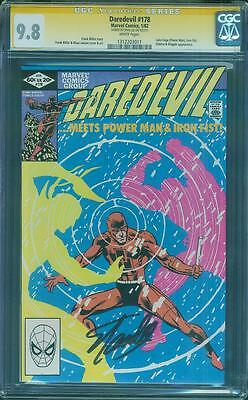 Daredevil 178 CGC SS 9.8 Stan Lee Sign Power Man Iron Fist TV Key Frank Miller