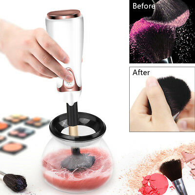 Electric Auto Makeup Cosmetic Brushes Brush Cleaner Drying Washing Machine Tools