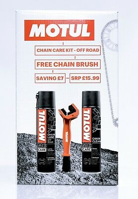 Motul Chain Care Cleaning / Cleaner Lube Kit For Off Road Motorcycles / Bike