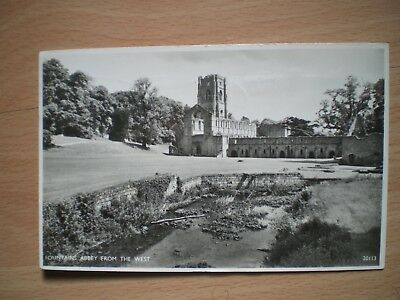 Vintage Postcard - Fountains Abbey From The West (20113) - Posted - 1953