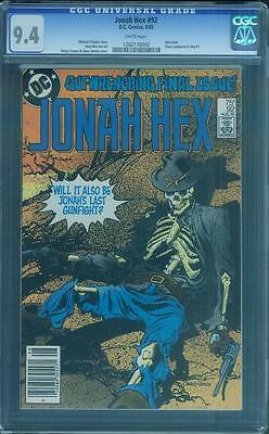 Jonah Hex 92 CGC 9.4 Klaus Janson Last Issue White Pages Rare 1985