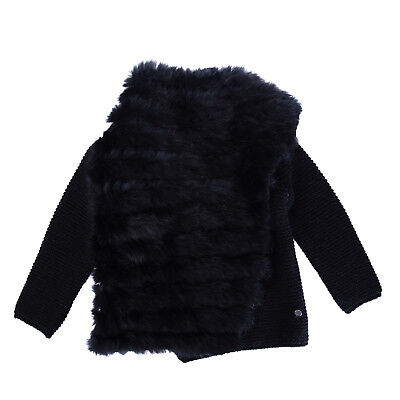 MICROBE By MISS GRANT Cardigan Size 18M / 80-86 CM Wool Blend Rabbit Fur Front