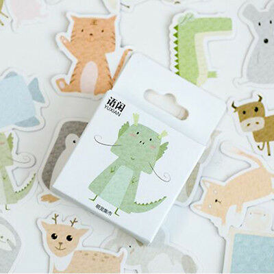 50 Pcs Forest Animals Stickers For Scrapbooking Cards Decoration Decals 6A